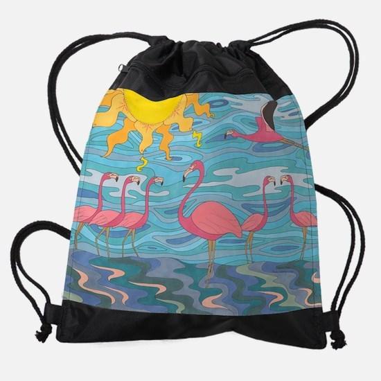 Seeing Pink Drawstring Bag