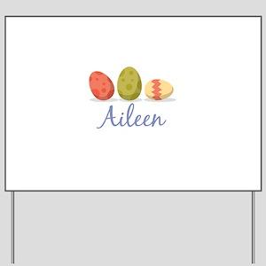Easter Egg Aileen Yard Sign