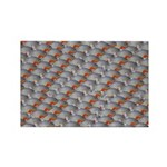 School of Piranhas 2 fish Rectangle Magnet (100 pa