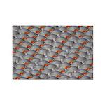 School of Piranhas 2 fish Rectangle Magnet (10 pac