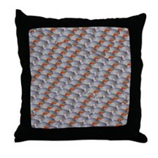 School of Piranhas 2 fish Throw Pillow