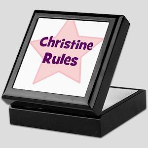 Christine Rules Keepsake Box