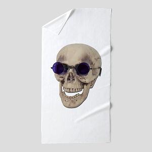 SkullPurpleGlasses121611 Beach Towel