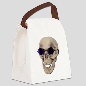 SkullPurpleGlasses121611 Canvas Lunch Bag