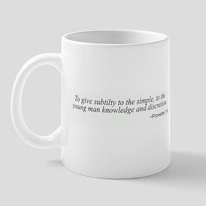 Proverbs 1:4 Mug