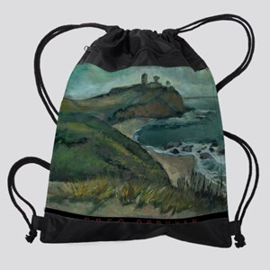 view_on_a_Radar_small_poster Drawstring Bag