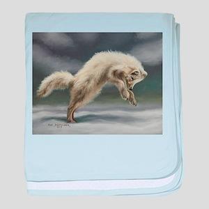 Arctic Fox baby blanket