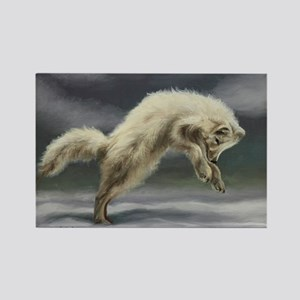 Arctic Fox Rectangle Magnet