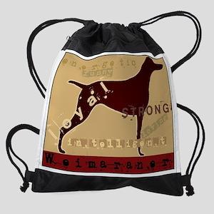 Grungy_20X16_Weim Drawstring Bag