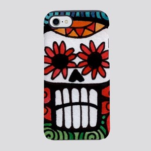 Day of the Dead Flower Skull iPhone 7 Tough Case