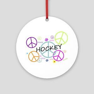 Hockey Peace Sign Ornament (Round)