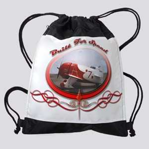 Gee Bee R-2 Built For Speed Tee.png Drawstring Bag