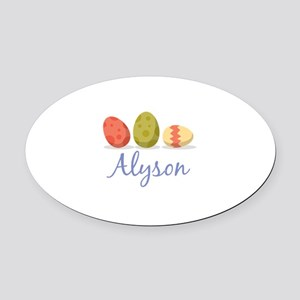 Easter Egg Alyson Oval Car Magnet