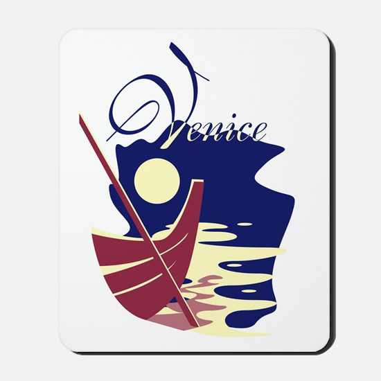 Venice Boat Mousepad