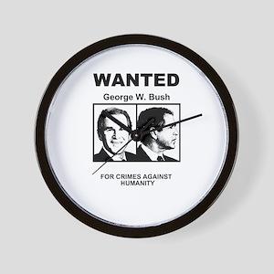 Bush Wanted Poster Wall Clock