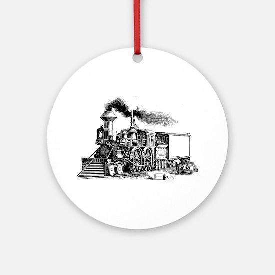 Steam Engine Ornament (Round)