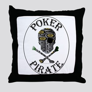 Poker Pirate Throw Pillow