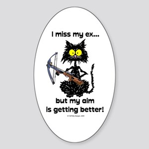 MISS MY EX - Cat - Oval Sticker