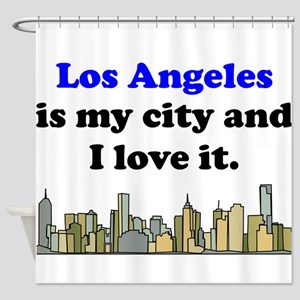 Los Angeles Is My City And I Love It Shower Curtai