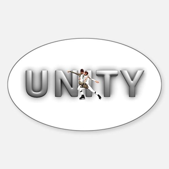 Skate Unity Sticker (Oval)