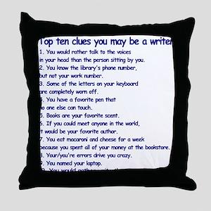 Writer Clues Writing Throw Pillow