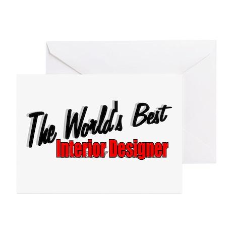 """The World's Best Interior Designer"" Greeting Card"