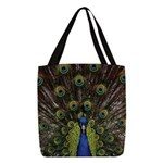Peacock Polyester Tote Bag