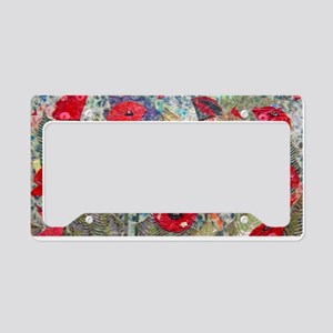 Poppy Fields License Plate Holder
