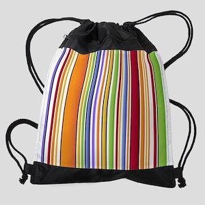 Colorful Stripes Drawstring Bag