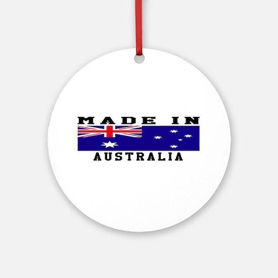 Australia Made In Ornament (Round)
