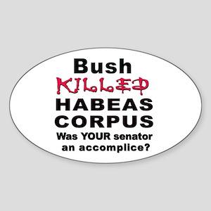 Habeas Corpus Oval Sticker