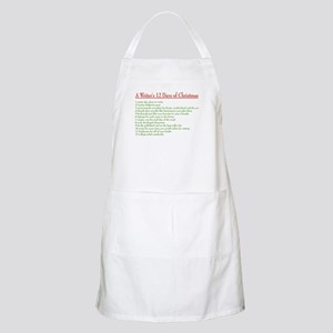 Writer's 12 Days of Christmas BBQ Apron