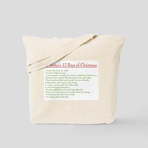 Writer's 12 Days of Christmas Tote Bag
