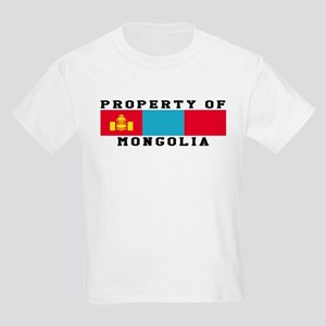 Property Of Mongolia Kids Light T-Shirt