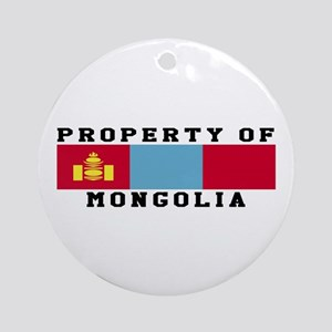 Property Of Mongolia Ornament (Round)