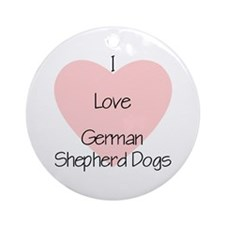 I Love German Shepherd Dogs (2) Ornament (Round)