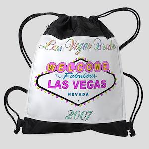 bride-pink-black-t Drawstring Bag