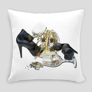 ShoesWineGlassesCascadingStars0102 Everyday Pillow