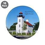 "Sand Point Lighthouse Coaste 3.5"" Button (10"