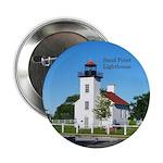 """Sand Point Lighthouse Coast 2.25"""" Button (10"""