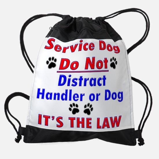 SERVICE DOG Drawstring Bag