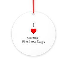 I Love German Shepherd Dogs Ornament (Round)