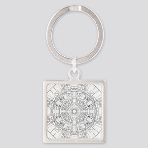Large Hadron Collider Lineart Keychains