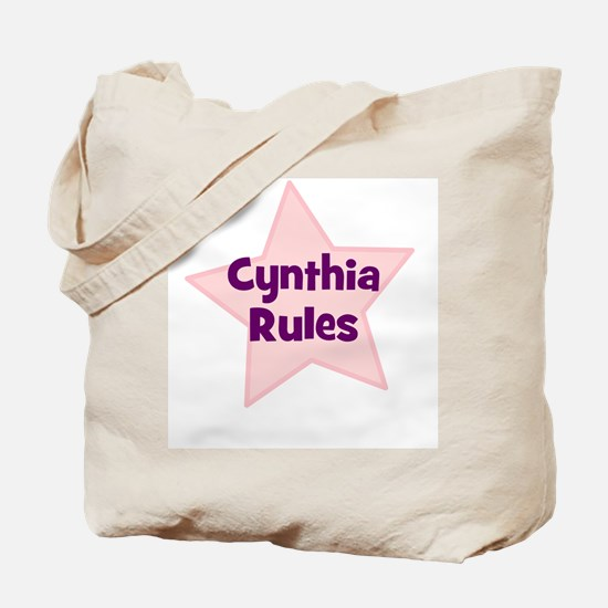 Cynthia Rules Tote Bag