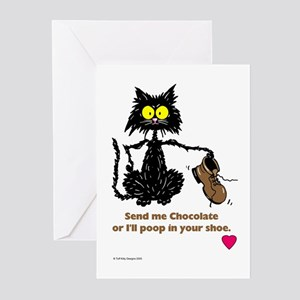 SEND ME CHOCOLATE Greeting Cards (Pk of 10)