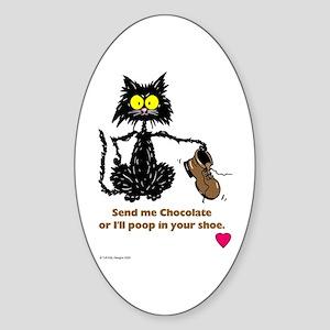SEND ME CHOCOLATE Oval Sticker