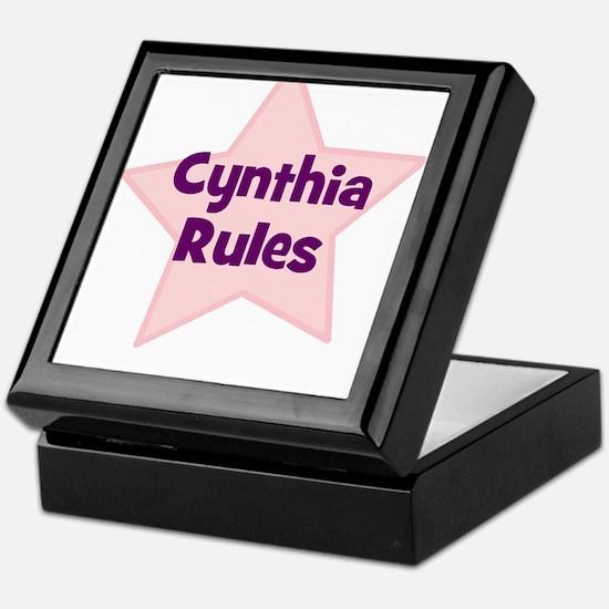 Cynthia Rules Keepsake Box