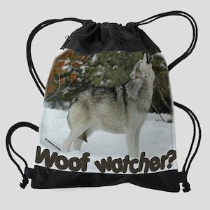©Woof Watcher fan Drawstring Bag