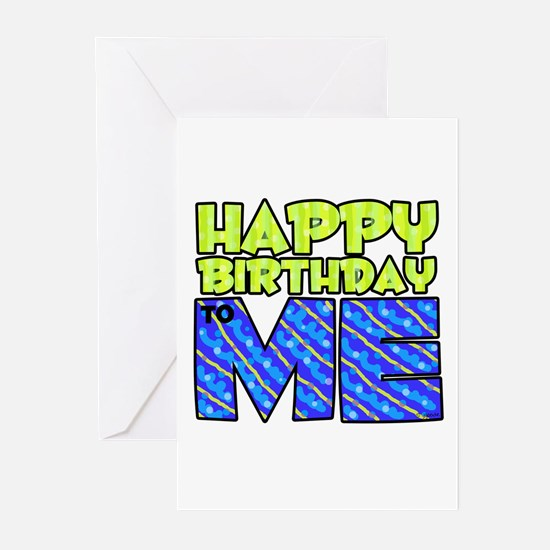 Happy Bday Me (blue) Greeting Cards (Pk of 10)