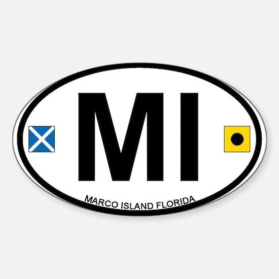 Marco Island - Oval Design. Sticker (Oval)